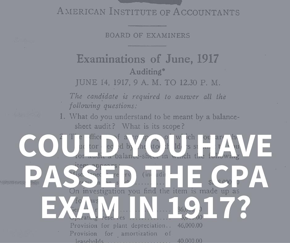 1917 CPA Exam