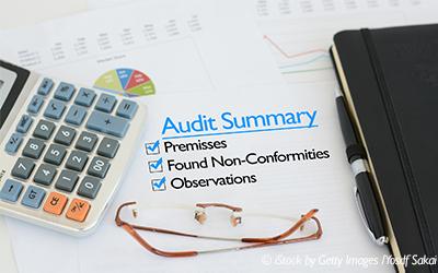 calculator glasses audit summary book