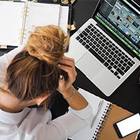 design desk eyewear frustrated