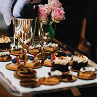 fancy dessert tray