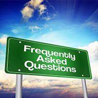 FAQ road sign