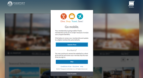 WSCPA Passport 'Go Mobile' Screen Instructions