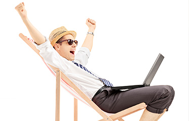 Man in beach chair