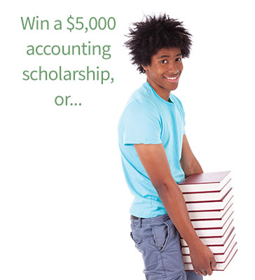 Win a $5,000 accounting scholarship or shelve books