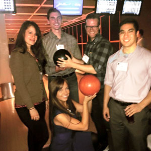 Bowling at WSCPA networking event