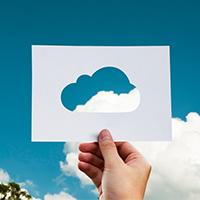 cloud cut out fingers