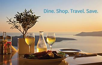 Dine. shop. travel. save.