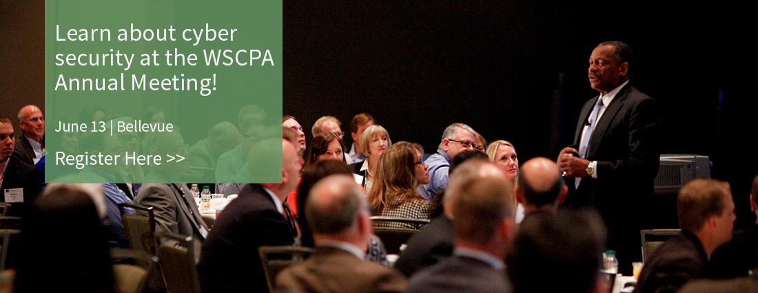 Click to register for the WSCPA Annual Meeting!